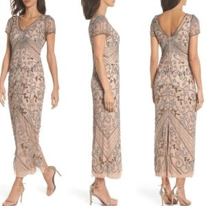 NEW Pisarro Nights Beaded Longline Gown Size 8